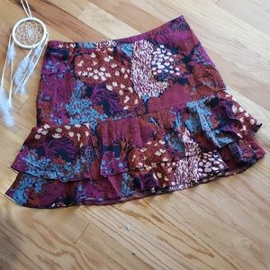 Sz 14 Boden floral layered midi skirt